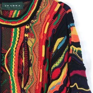 VTG 90's Tundra Canada SZ L Coogie Hip Hop Knit